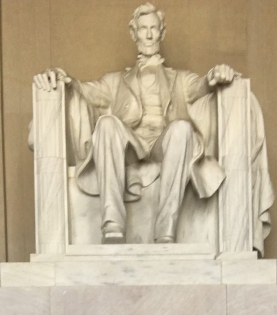Lincoln statue inside the Lincoln Memorial