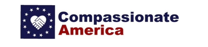 Comassionate America (Logo is made of a circle of stars, surrounding two hands clasped in the shape of a heart)